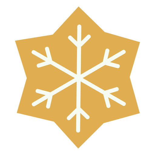 Christmas cookie snowflake flat
