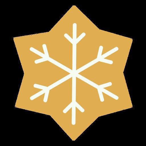 Copo de nieve de galleta de navidad plana