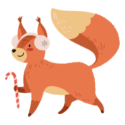 Christmas cute squirrel illustration