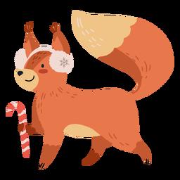 Ilustração de esquilo fofo de Natal