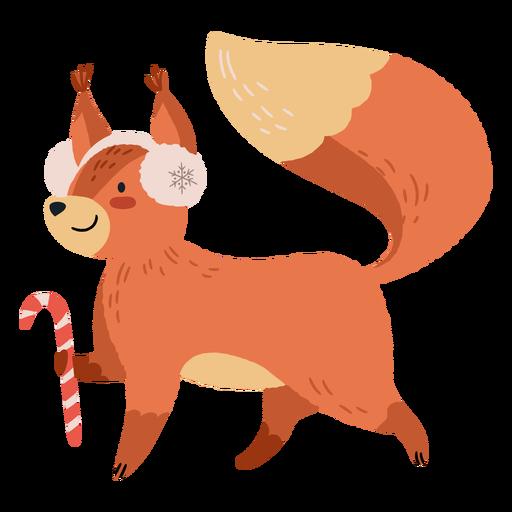 Christmas cute squirrel illustration Transparent PNG