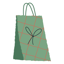 Christmas gift bag illustration