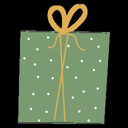 Regalo de navidad plano