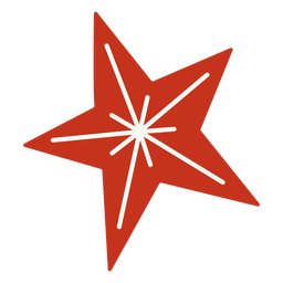 Christmas star festive design