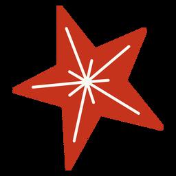 Diseño festivo estrella de navidad