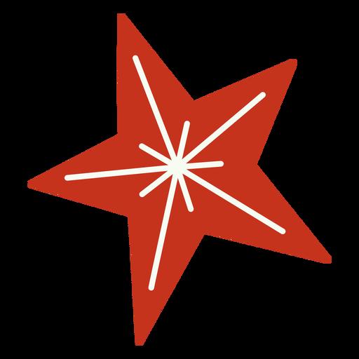 Diseño festivo estrella navideña