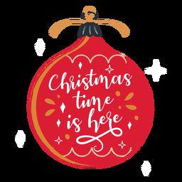Christmas time ornament illustration