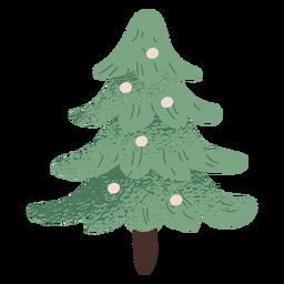 Desenho de ilustração de árvore de natal