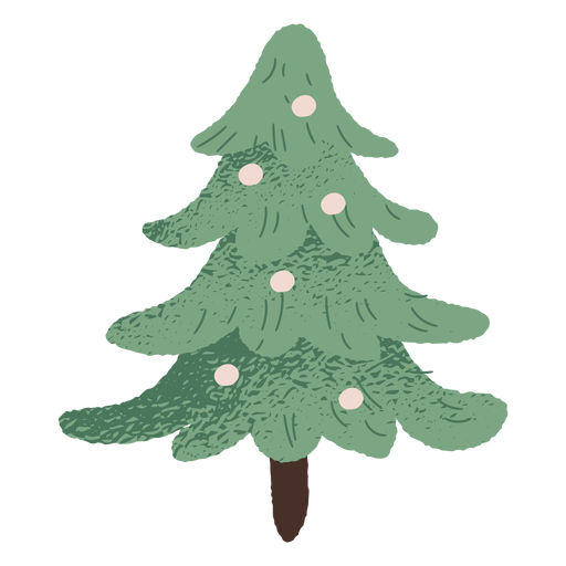Christmas tree illustration design Transparent PNG
