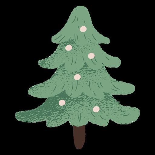 Diseño de ilustración de árbol de Navidad