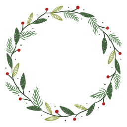 Christmas wreath decoration illustration
