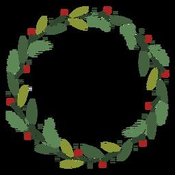 Ilustração de decoração de guirlanda de Natal