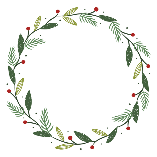 Christmas wreath decoration illustration Transparent PNG