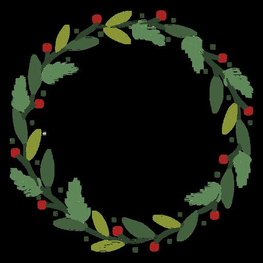 Christmas wreath decoration illustration