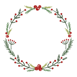 Christmas wreath traditional decoration
