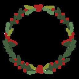 Traditionelle Dekoration des Weihnachtskranzes