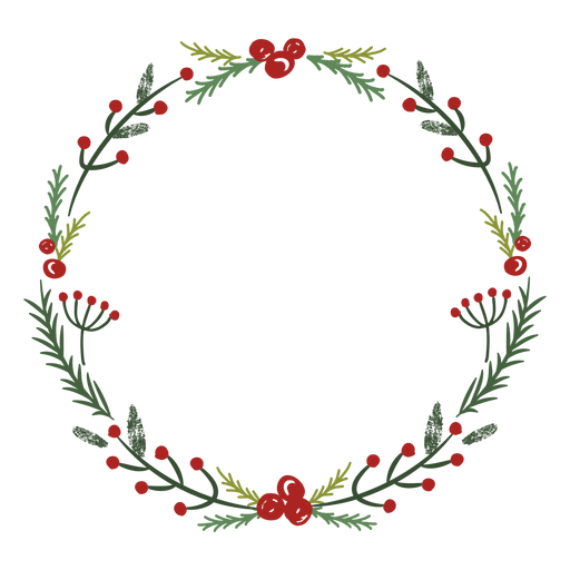 Christmas wreath traditional decoration Transparent PNG