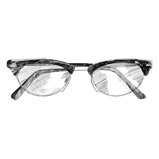 Clubmaster style glasses sketch design