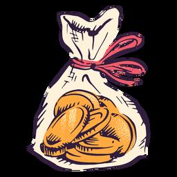Ilustração da tradição hanukkah em bolsa de moedas