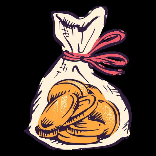 Ilustración de la tradición de hanukkah de la bolsa de monedas