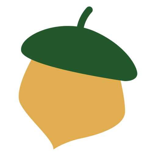 Colorful acorn flat Transparent PNG