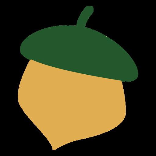 Colorful acorn flat