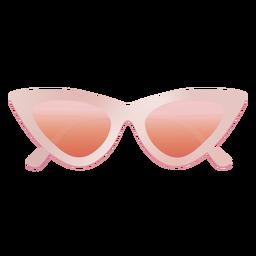 Olho de gato colorido em forma de óculos de sol