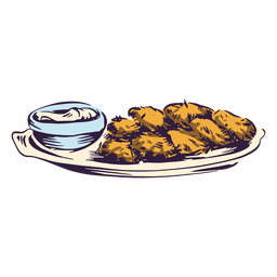 Ilustração de tradição judaica de batata crocante