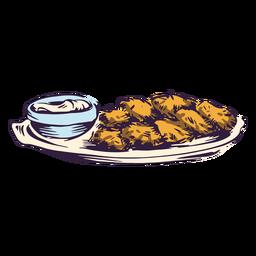 Ilustración de tradición judía de patata crujiente
