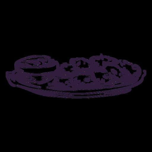 Trazo de tradición judía de patata crujiente