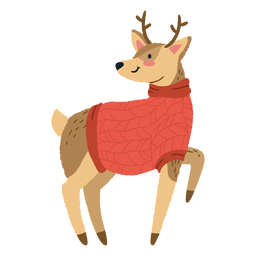 Cute christmas deer illustration