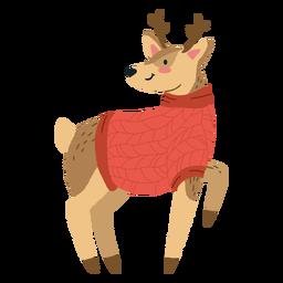 Linda ilustración de ciervos de Navidad