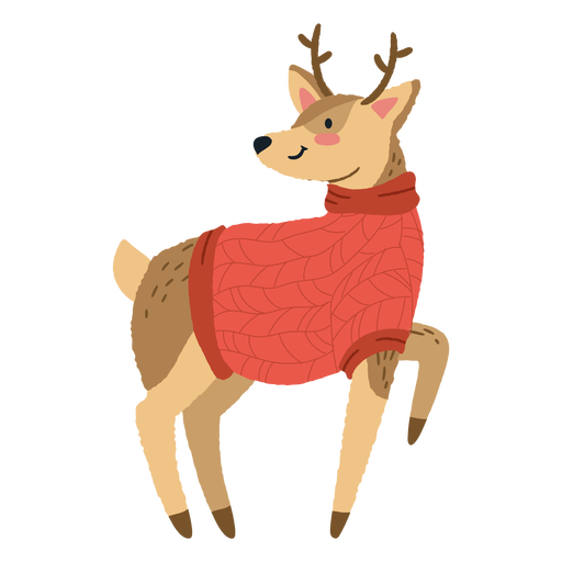 Ilustração bonita de veado de Natal Transparent PNG