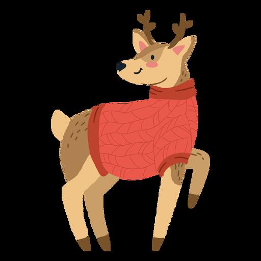 Linda ilustración de ciervos de Navidad Transparent PNG