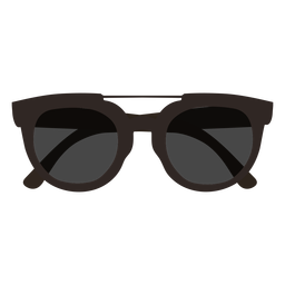 Dark sunglasses flat design