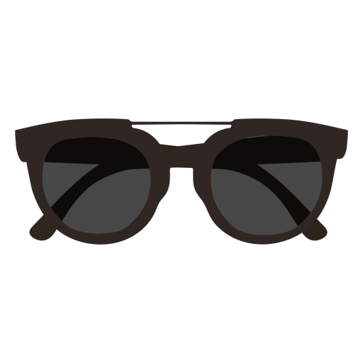 Dark sunglasses flat design Transparent PNG