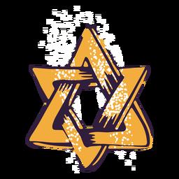 Ilustração de símbolo judaico de estrela de David
