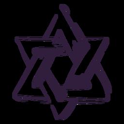 Trazo de símbolo judío de la estrella de David