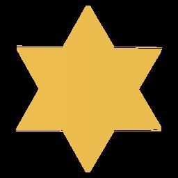 Diseño plano de estrella de david
