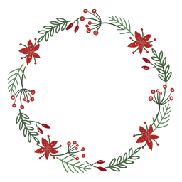 Decorative christmas wreath wreath