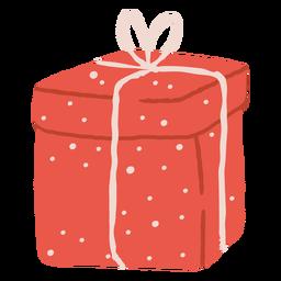 Ilustración de caja de regalo punteada