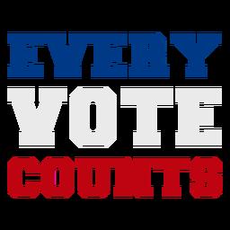 Cada voto conta cotação de eleições