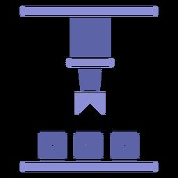 Silhueta de boxe de máquina de fábrica