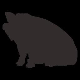 Silueta de cerdo gordo sentado