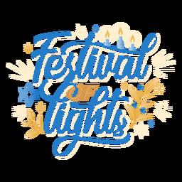 Festival de letras hanukkah de luzes