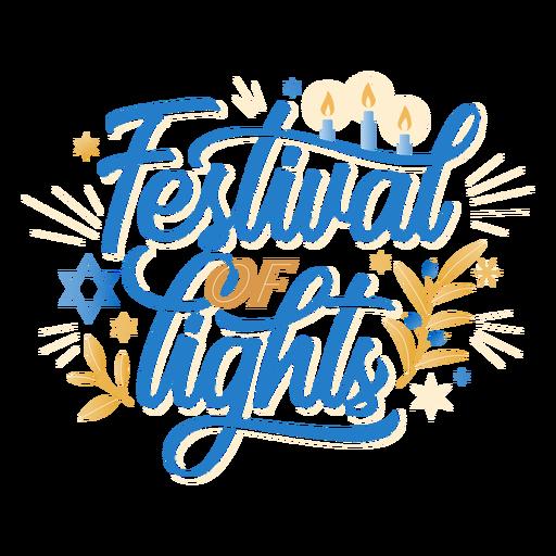 Festival de las luces letras de hanukkah