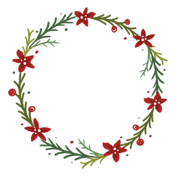 Flowery christmas wreath