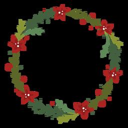 Guirnalda de Navidad florida