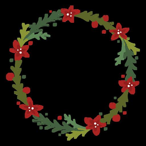 Flowery christmas wreath