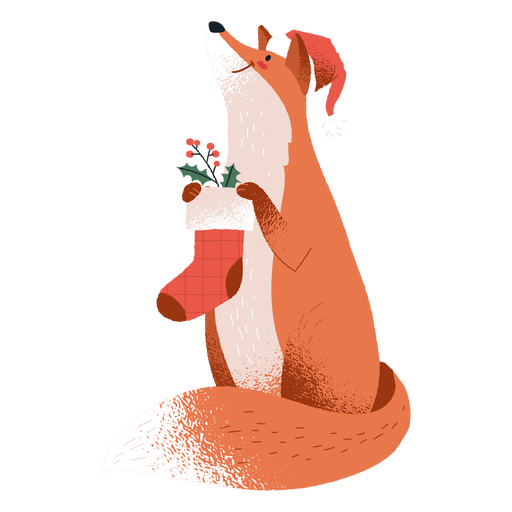 Fox christmas stangin animal Transparent PNG